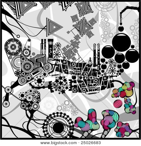 Very detailed abstract image
