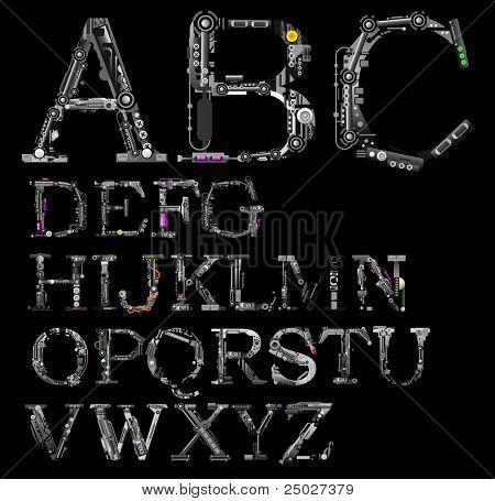 very detailed cyber-alphabet