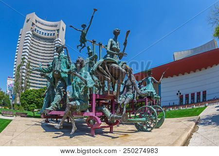 Bucharest,romania-july 16,2018:the Statuary Group