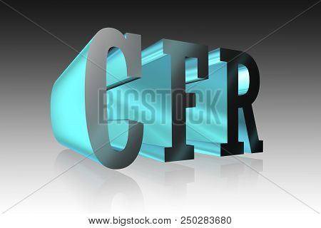 Cfr Lettering   - 3d Metallic Word Illustration