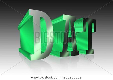 Dat Lettering -  3d  Metallic Mark Illustration