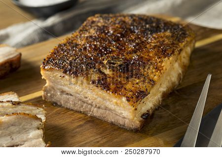 Roasted Organic Pork Belly Meat