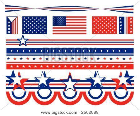 Patriotic Stars And Bars