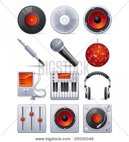 Vector illustration - Sound icon set