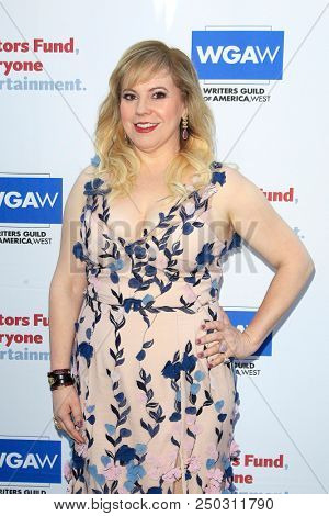 LOS ANGELES - JUN 11: Kirsten Vangsness at The Actors Fund's 22nd Annual Tony Awards Viewing Party at the Skirball Cultural Center on June 10, 2018 in Los Angeles, CA
