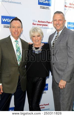 LOS ANGELES - JUN 11: David Rambo, Lorna Luft, Keith McNutt at The Actors Fund's 22nd Annual Tony Awards Viewing Party at the Skirball Cultural Center on June 10, 2018 in Los Angeles, CA