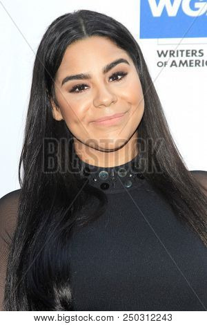LOS ANGELES - JUN 11: Jessica Marie Garcia at The Actors Fund's 22nd Annual Tony Awards Viewing Party at the Skirball Cultural Center on June 10, 2018 in Los Angeles, CA