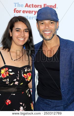 LOS ANGELES - JUN 11: Sydney Yllanes, Wilson Cruz at The Actors Fund's 22nd Annual Tony Awards Viewing Party at the Skirball Cultural Center on June 10, 2018 in Los Angeles, CA
