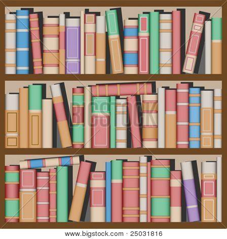 Lots of Books on Bookshelves