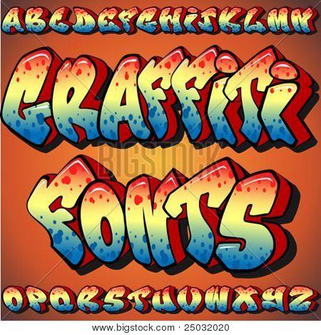 A Full Set of Graffiti Fonts