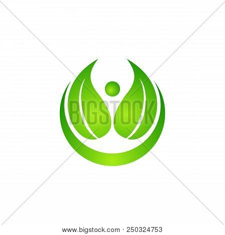 Logo Of Green Leaf Ecology Nature Element Vector Icon. Design Shape Leaf Logo And Abstract Organic L