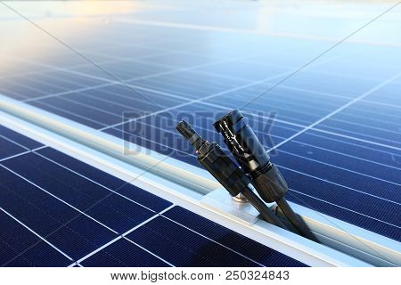 Solar Pv Connectors Male And Female Disconnected