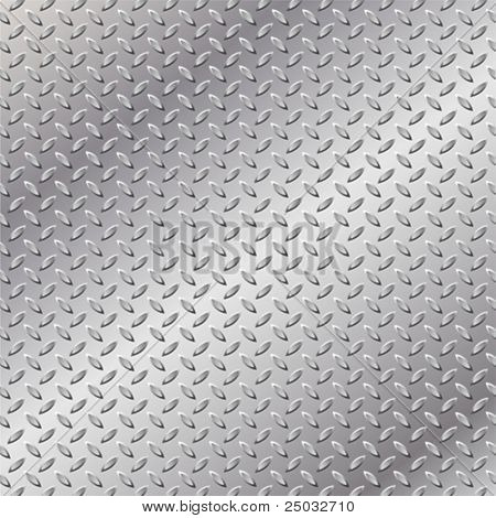 A Metal Background with Tread Plate Pattern