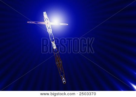 Tilted Cross In Divine Light