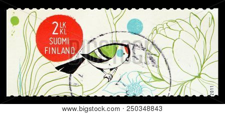 Finland - Circa 2011 : Cancelled Postage Stamp Printed By Finland, That Shows The Spring Of Life.