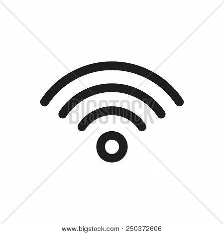 Wifi Signal Icon Simple Vector Sign And Modern Symbol. Wifi Signal Vector Icon Illustration, Editabl