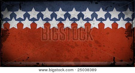 Retro style framed  background with space for your text , stars and stripes.