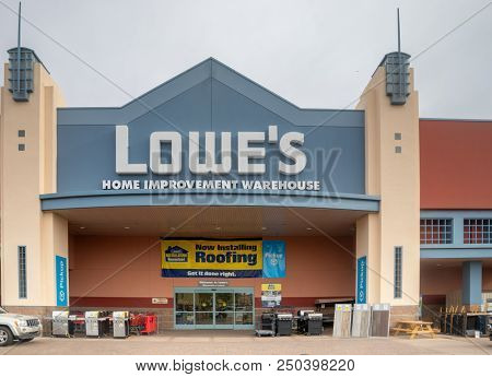 Scottsdale, Az/USA - 7.20.18: Lowe's Companies, Inc. is a Fortune 500  American company that ranks 40th in Fortune 500, 2018.  Lowe's is the second-largest hardware chain in the US behind Home Dep.