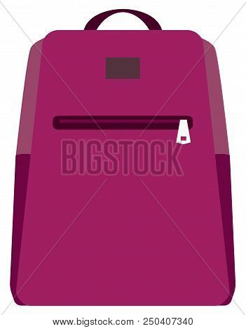 Vector Illustration Of School Backpack. Backpacks For Children, Students, Travelers And Tourists. Ve