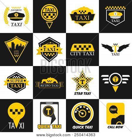 Taxi Vector Logo Vector & Photo (Free Trial) | Bigstock