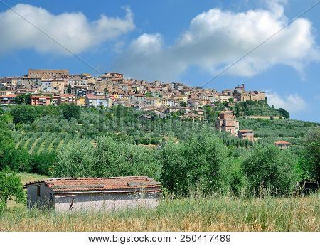 Village Of Chianciano Terme In Tuscany In Siena Province,italy