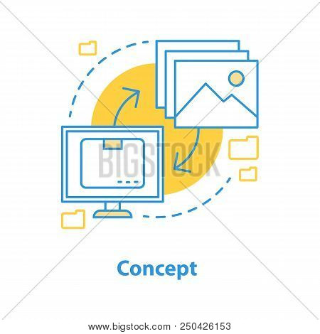 Concept Creating Icon. General Notion Idea Thin Line Illustration. Vector Isolated Outline Drawing
