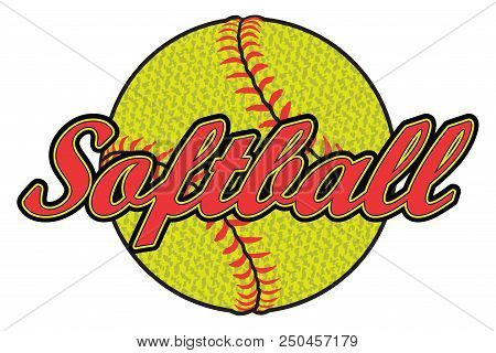 Softball Design With Textured Ball Is An Illustration Of A Softball Design That Can Be Used By You O