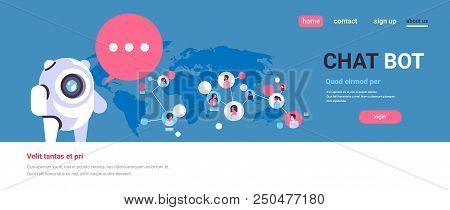 Chatbot Robot Speech Bubble People Avatar Global Communication Chat Bot Connection Artificial Intell