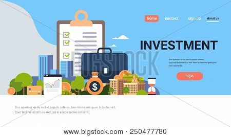 Checklist Survey Investment Property Business Concept Money Graph Buildings Finance Investments Hori