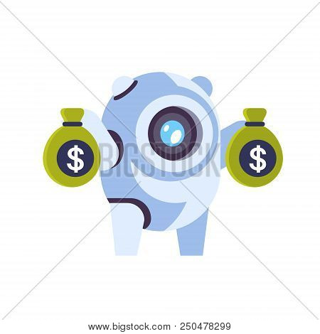 Chat Bot Robot Money Growth Wealth Concept Artificial Intelligence Dollar Electronic Payment Chatbot