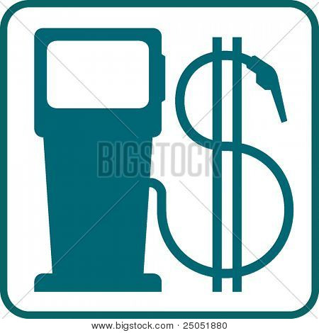 gas pump and dollar symbol