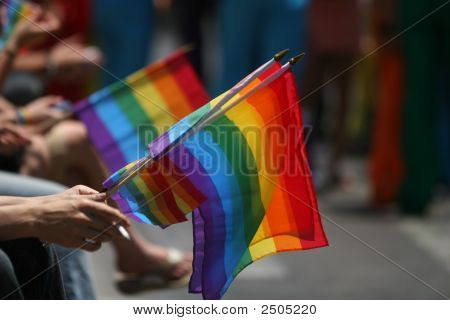 Flags In A Parade