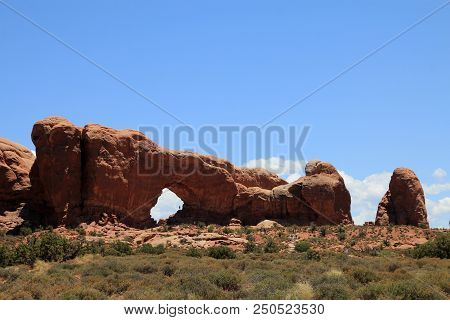 Arch In Arches National Park In Usa