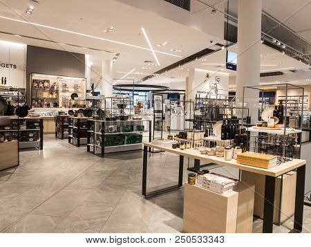 Melbourne, Australia - July 21, 2018: Homewares Department At David Jones Department Store At Eastla