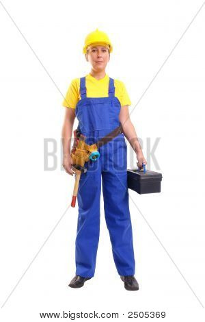 Service Woman With Toolbox