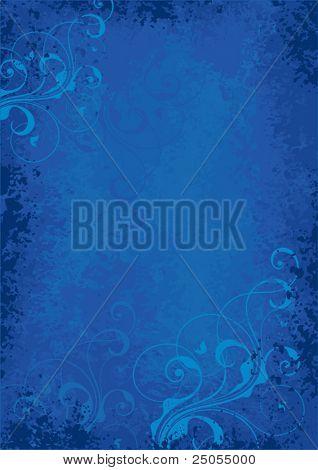 Dunkel blauem Hintergrund