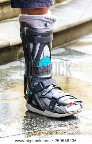 Ankle Brace - Aircast Flat Foot Pttd Brace, Aircast,boot Adult's Walker, Foot Braces, Foot Compressi