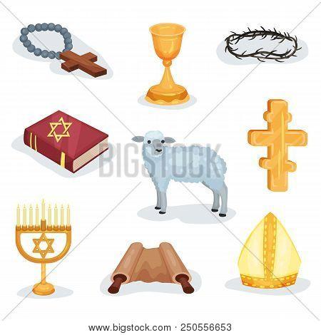 Set Religious Symbols Vector Photo Free Trial Bigstock