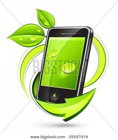 Grün Handy