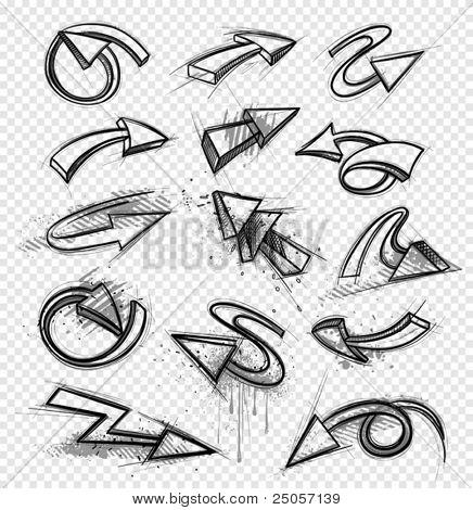 Drawings of arrows