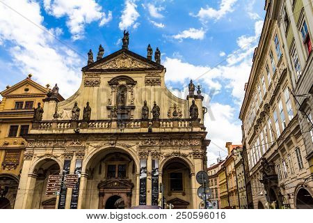 Prague, Czech Republic -july 23,2017: St. Salvator Church Is One Of Two Churches In The Klementinum,