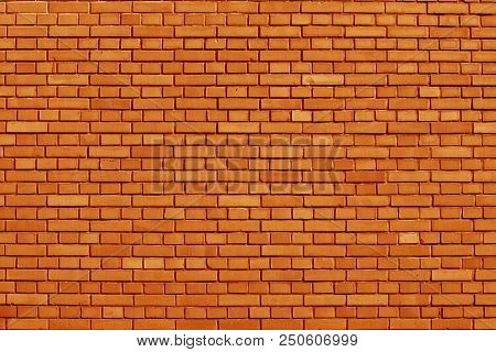 A Russet Orange Colored Brick Wall Background