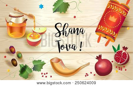 Rosh Hashana Greeting Card. Text