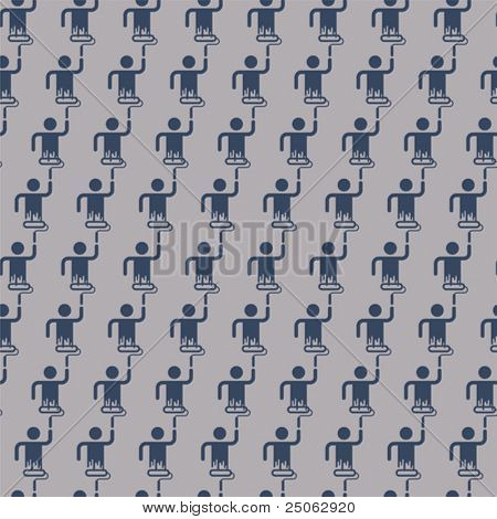 a seamless pattern of a painting man