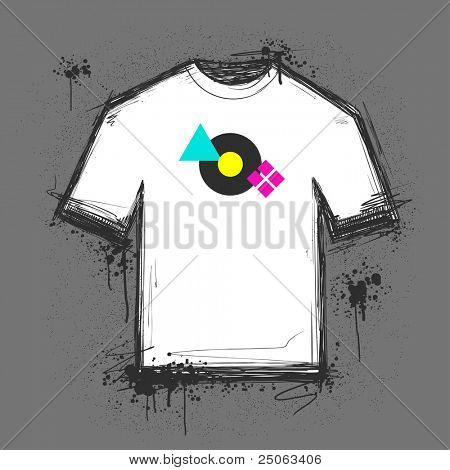 Blank t-shirt template. Vector illustration.
