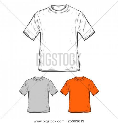 T-shirt templates. Vector illustration.