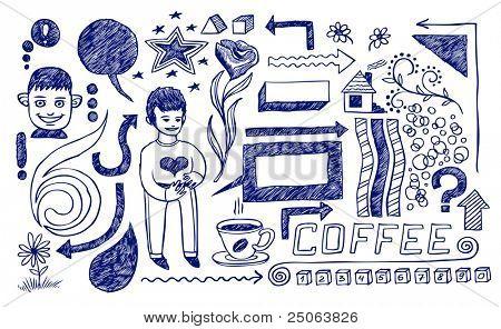 Lifestyle doodles. Vector illustration.