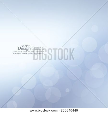 Abstract Background With Bokeh Effect. Vector Delicate  Backdrop. Gentle Image Blur. Subtle Defocuse