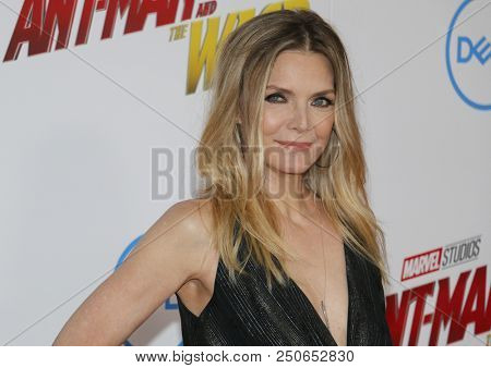Michelle Pfeiffer at the Los Angeles premiere of 'Ant-Man And The Wasp' held at the El Capitan Theatre in Hollywood, USA on June 25, 2018.