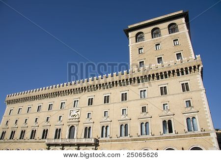 Assicurazioni Generali Palace building in Rome Italy poster